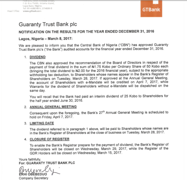 guarantee trust bank nigeria essay Internal control and fraud detection in the banking industry (a case study of guarantee trust bank plc) by ogundele gbonjubola 06271184 being a research project submitted to the department of accounting, faculty of management sciences, university of abuja, abuja, nigeria in partial fulfillment of the requirements for the award of bachelor of .