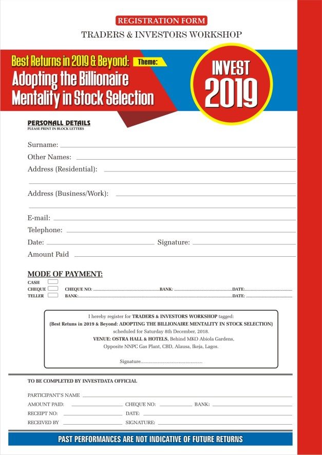 Form Investment seminar 2018